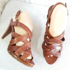 New Cole Haan Nike Air brown leather sandals